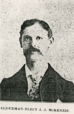 A picture of John James Mackenzie taken from the newepaper in March of 1904
